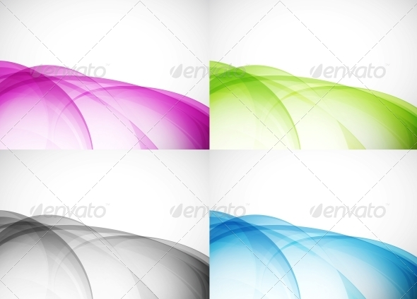 GraphicRiver Wave Color Backgrounds 3595361