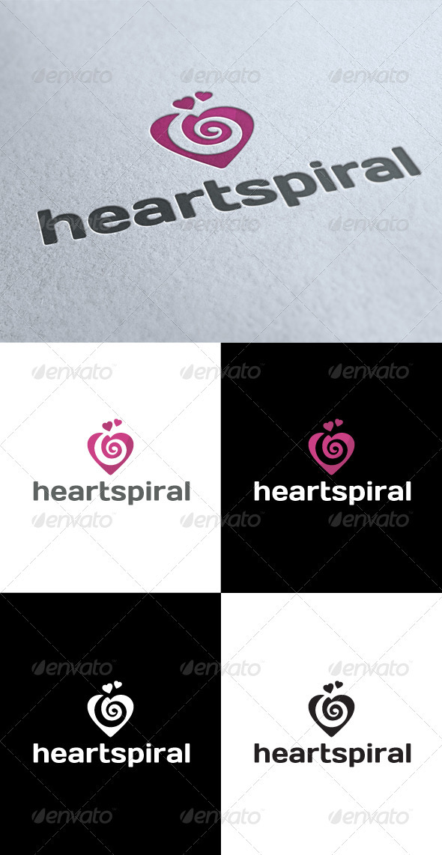 GraphicRiver Love Heart Spiral Logo 3547902