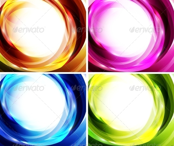 GraphicRiver Wave Color Backgrounds 3595435
