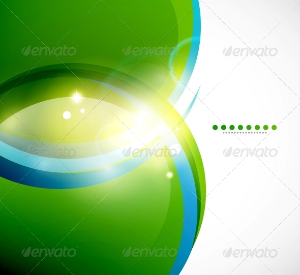 GraphicRiver Detailed Green Wavy Vector Background 3595442