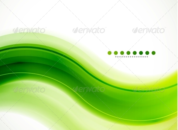 Modern Detailed Background Green Wave