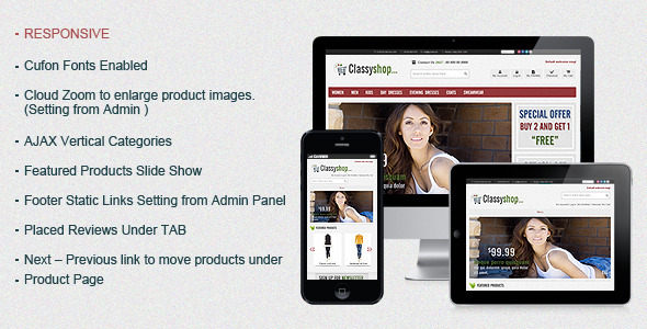ThemeForest ClassiShop Magento Template 519426