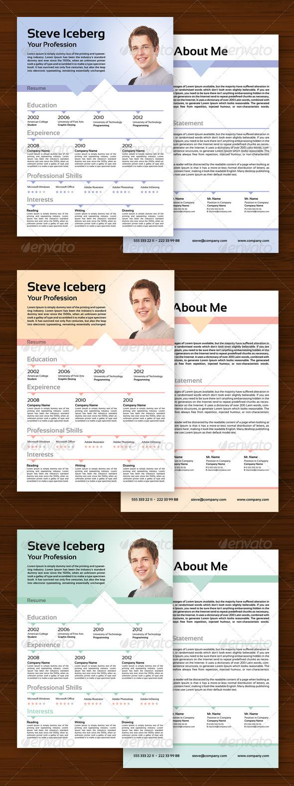 GraphicRiver Minimal Resume 3544703