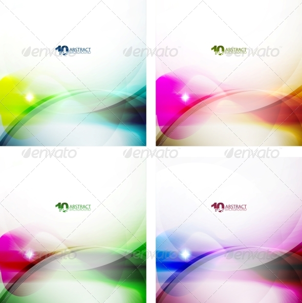 GraphicRiver Wave Color Backgrounds 3595641