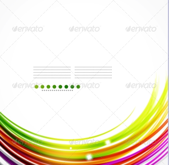 GraphicRiver Colorful Wavy Lines 3595649