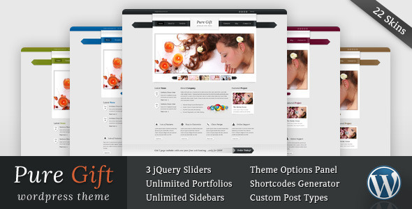 ThemeForest Pure Gift Blog and Portfolio Wordpress Theme 2531061