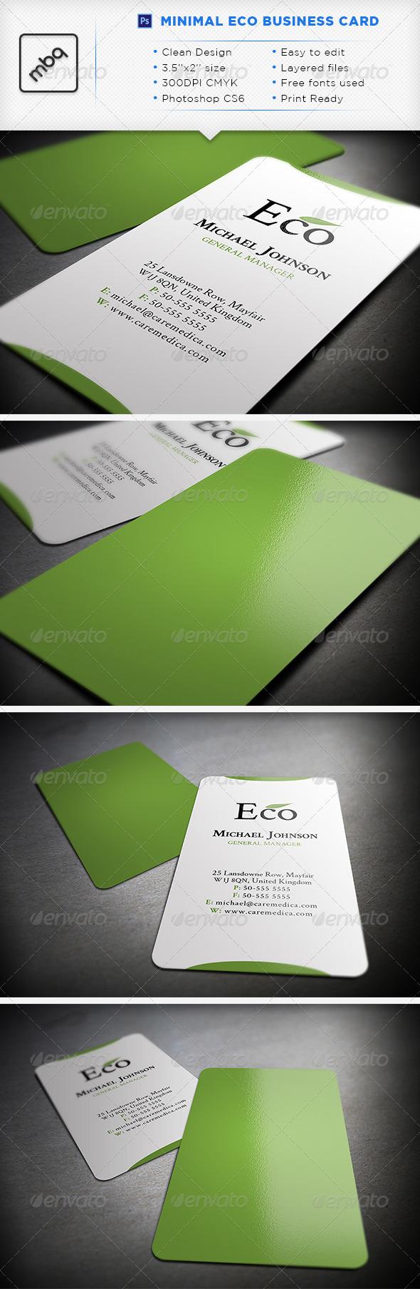 GraphicRiver Minimal Eco Business Card 3595740
