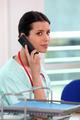 Nurse on the telephone