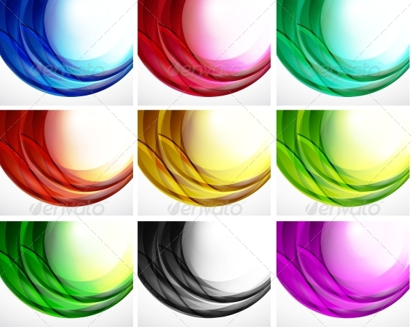 GraphicRiver Set of Swirl Backgrounds 3595749