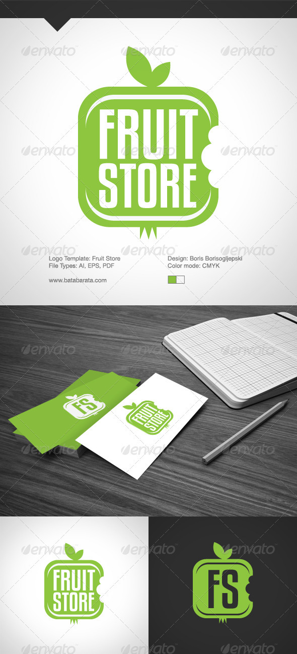 Fruit Store Logo Template - Vector Abstract