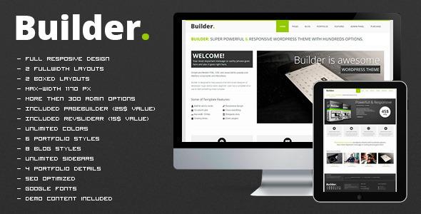 ThemeForest BUILDER Responsive Multi-Purpose Theme 3596009