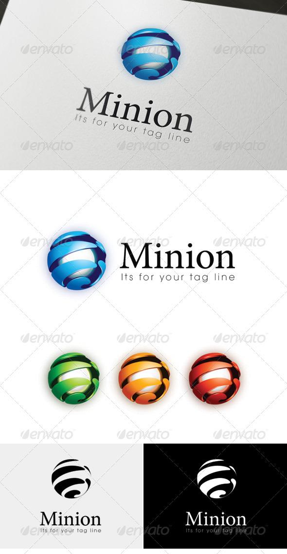 GraphicRiver Minion 3D 2D logo 3559997