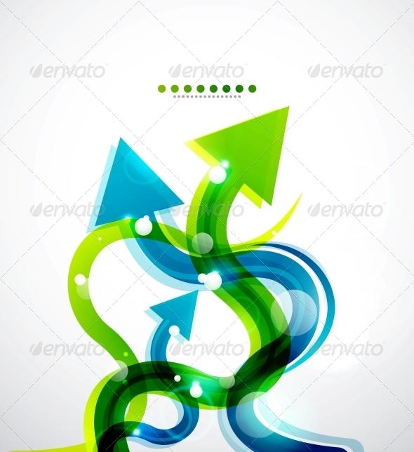 Vector Wavy Arrows Background