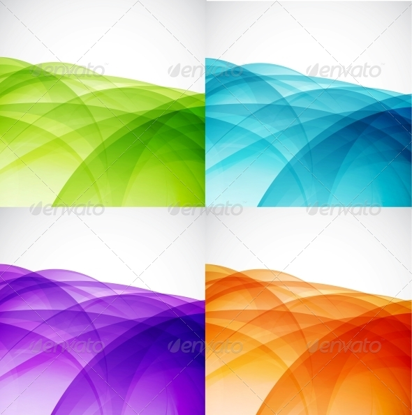GraphicRiver Wave Color Backgrounds 3596224