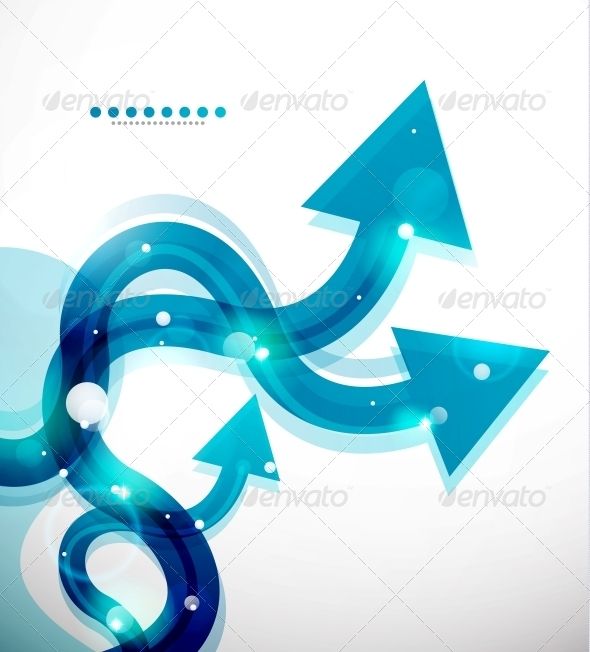 GraphicRiver Vector Wavy Arrows Abstract Background 3596234