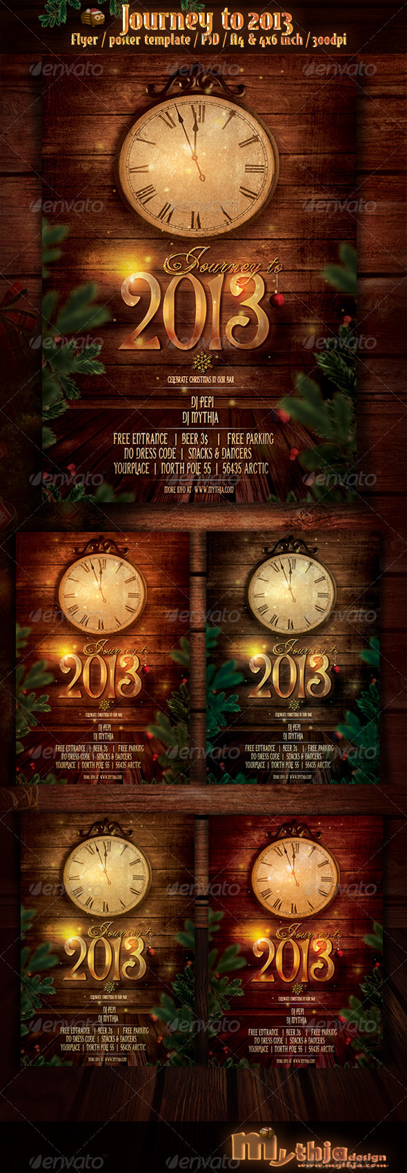 GraphicRiver Journey to 2013 New Year Flyer Poster Template 3596253