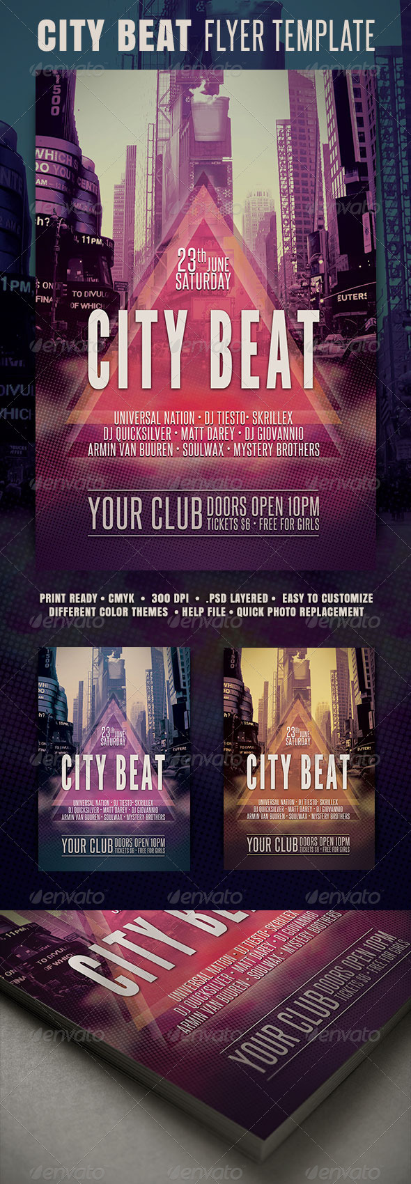 City Beat Flyer - Clubs & Parties Events