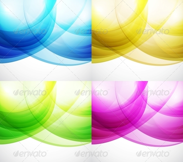 GraphicRiver Wave Color Backgrounds 3596319