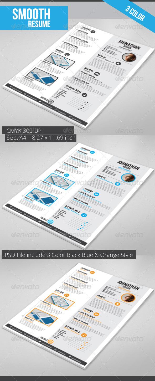 GraphicRiver Gstudio Smooth Resume 3560069