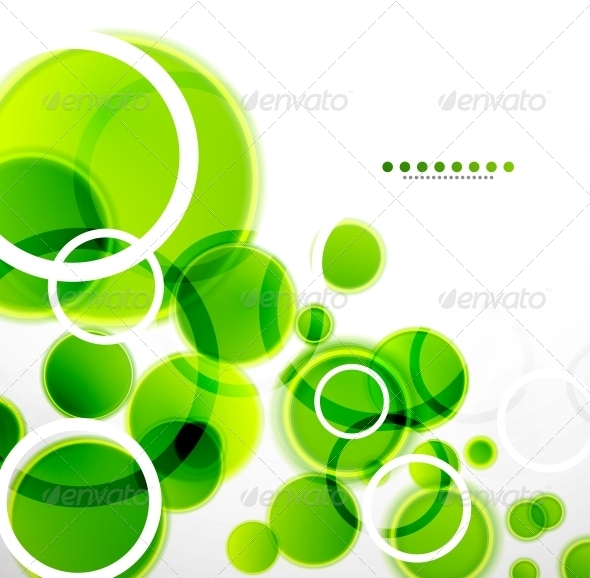 GraphicRiver Abstract Shapes Background Green Bubbles 3596823