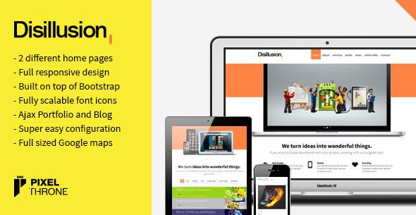 Disillusion > One Page Responsive Portfolio - Portfolio Creative