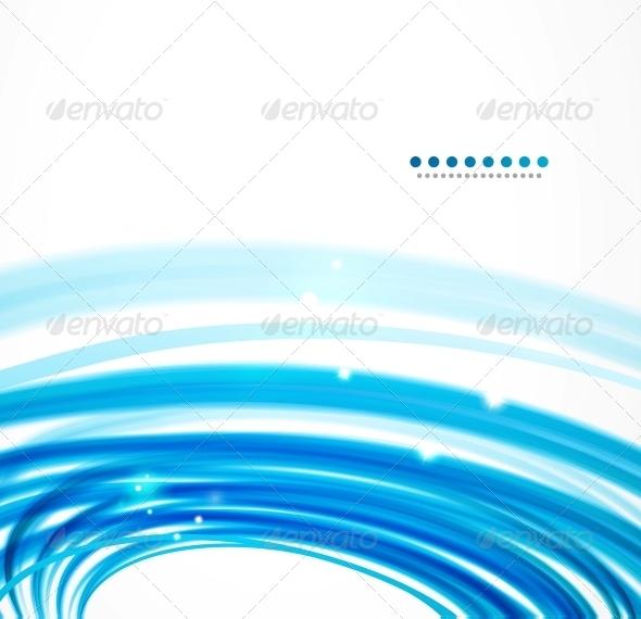 GraphicRiver Blue Wavy Lines 3596947