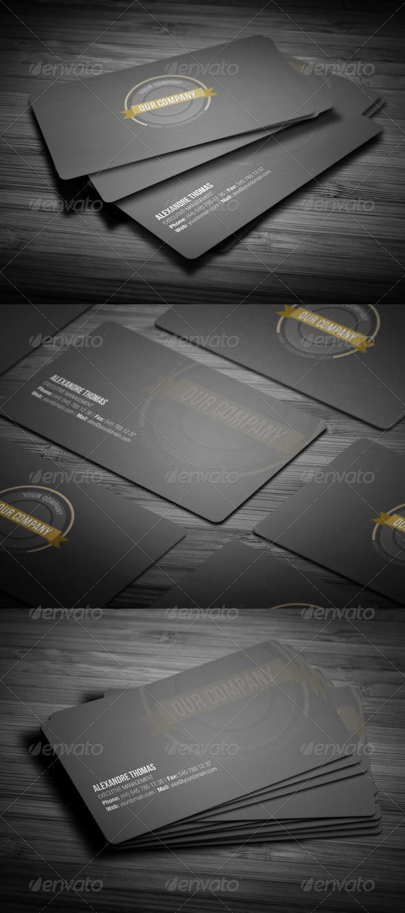 GraphicRiver Rounded Clean Business Card 3597292