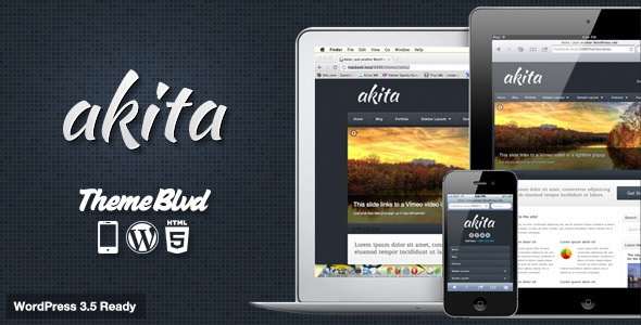 ThemeForest Akita Responsive WordPress Theme 1530025