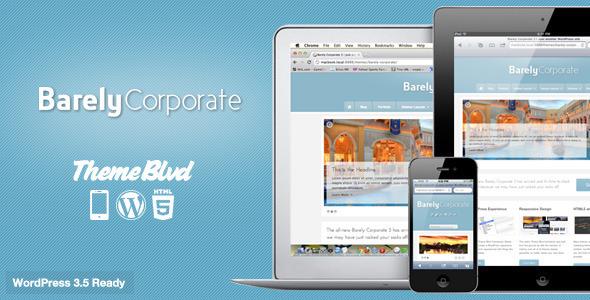 ThemeForest Barely Corporate Responsive WordPress Theme 93069