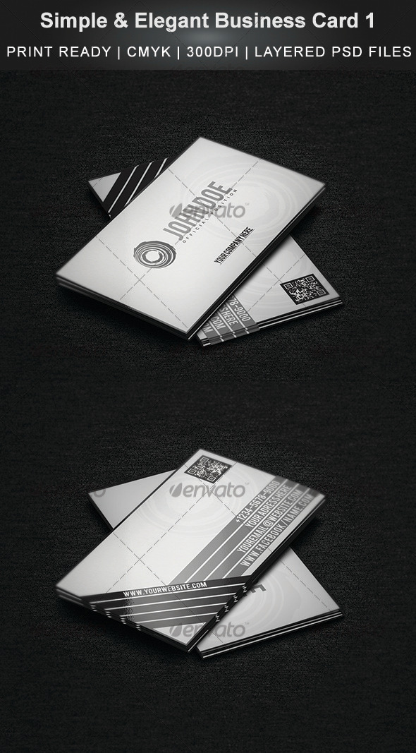 GraphicRiver Simple & Elegant Business Card 1 3544121