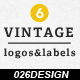 6 Vintage Labels & Logos - GraphicRiver Item for Sale