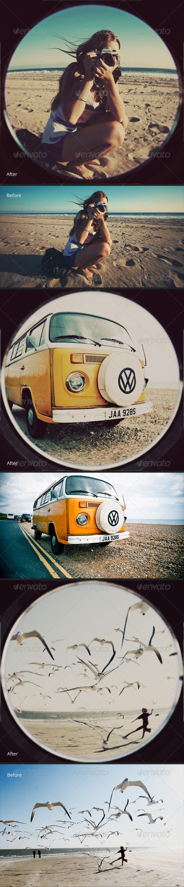 Old Fisheye Lens Effect - Photo Effects Actions