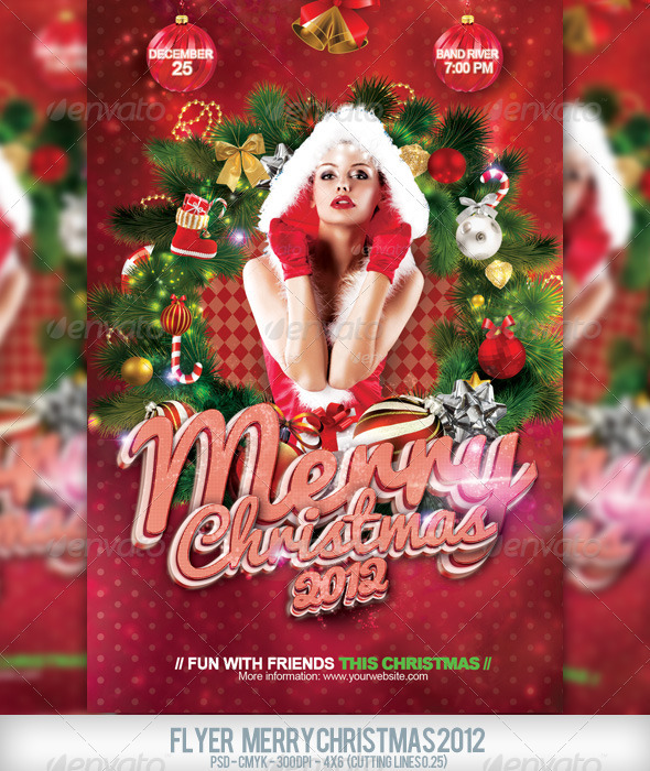 GraphicRiver Flyer Merry Christmas 2012 3298141