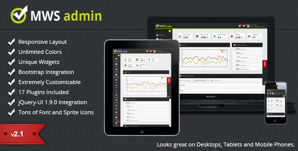 MWS Admin - Full Featured Admin Template - Admin Templates Site Templates