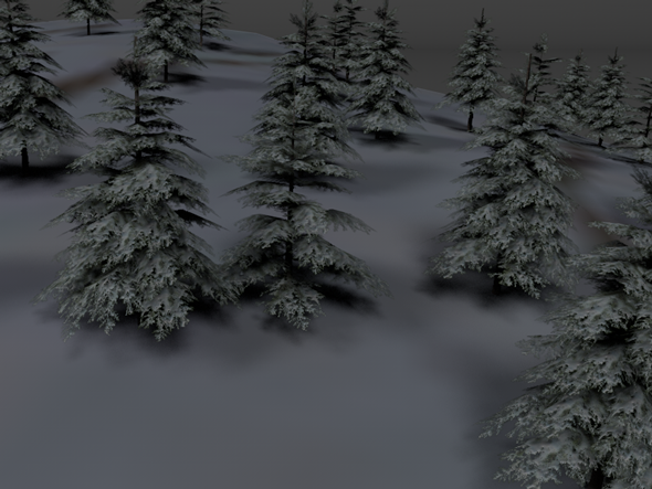 3DOcean Winter Trees Pack Low Poly 3598964