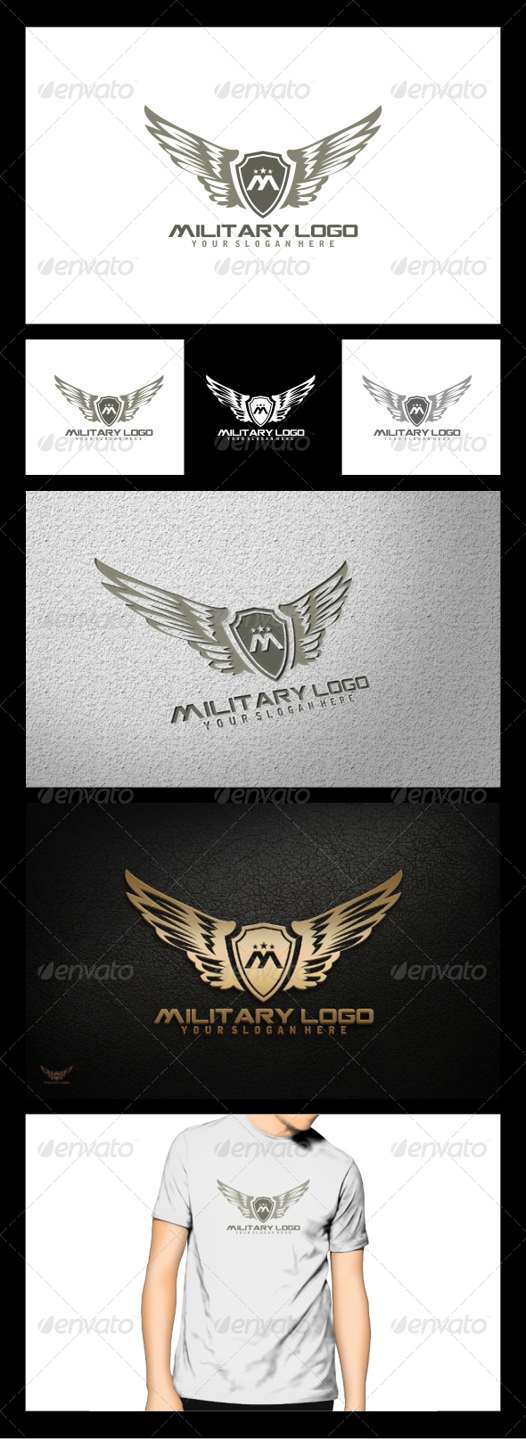 military logo template graphicriver. Black Bedroom Furniture Sets. Home Design Ideas