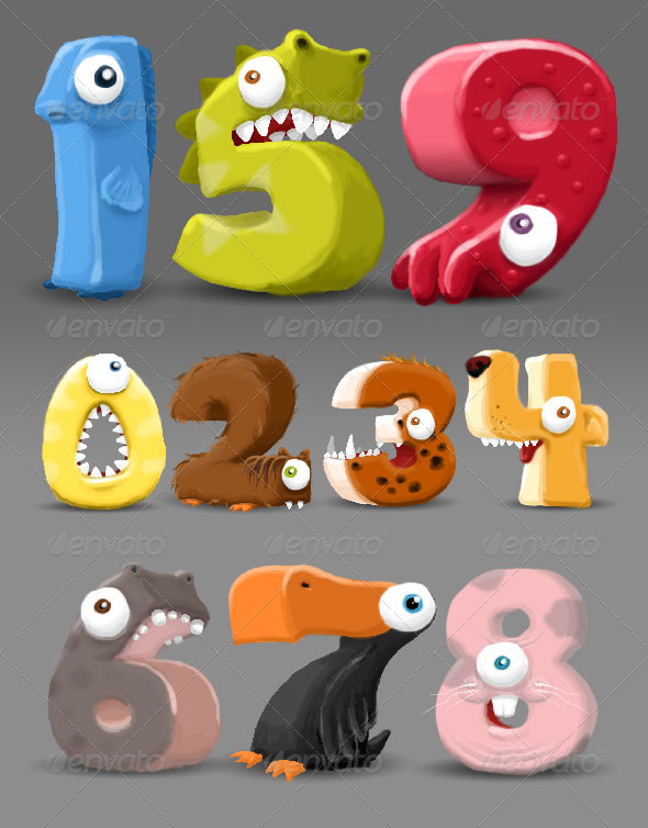GraphicRiver Hand-drawn Number Characters 3600437