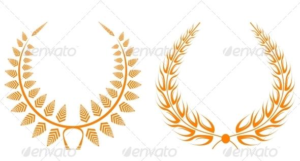GraphicRiver Set of Laurel Wreaths 3600439