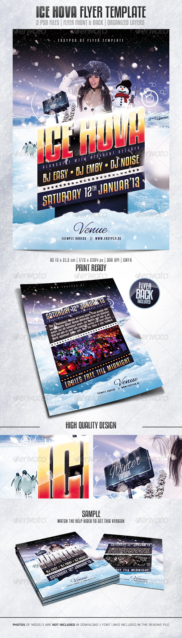 Ice Hova Flyer Template - Clubs & Parties Events