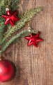 Christmas background with red decoration - PhotoDune Item for Sale