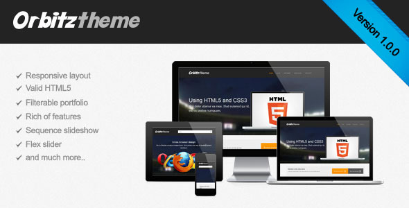 Orbitz - Responsive HTML site template