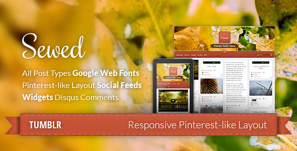 ThemeForest Sewed Personal Blog 3324081