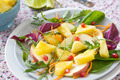 Pineapple with Pomegranate and spinach salad