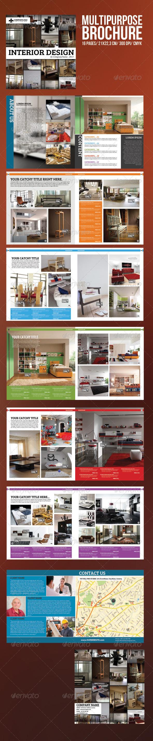 GraphicRiver Multipurpose Brochure Template 3536623