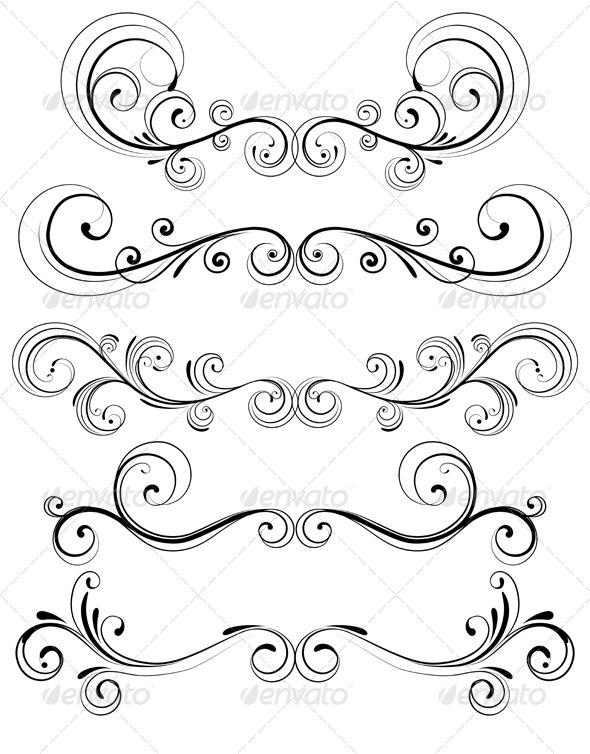 GraphicRiver Floral Decorative Elements 3601702