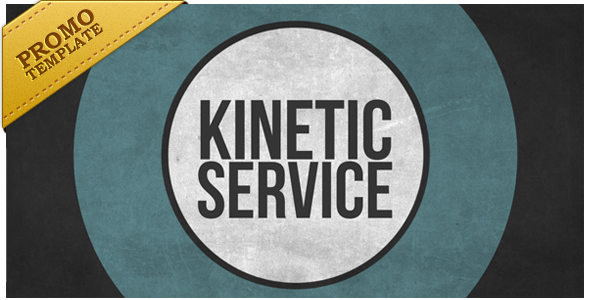 VideoHive Kinetic Service Promote Your Product or Service 3572821