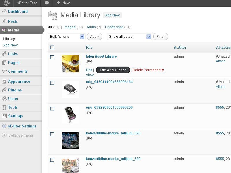 sEditor - online image editor WP plugin