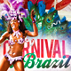 Carnival In Brazil Flyer Template - GraphicRiver Item for Sale