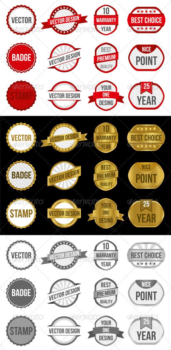 GraphicRiver Badges & Labels Vectors 3549581