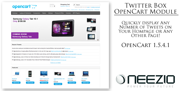 Twitter Box Module para OpenCart - WorldWideScripts.net Item para sa Sale